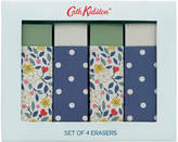 Cath Kidston Littlemore Flowers Set of 4 Erasers