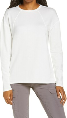 Zella Intuition Studio Long Sleeve Fleece Top
