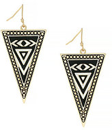 Jessica Simpson Home Grown Tribal Triangle Drop Earrings