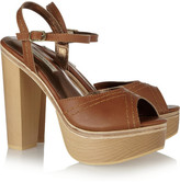 Twelfth St. By Cynthia Vincent Leather platform sandals