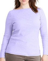 Lauren Ralph Lauren Plus Jersey Boatneck Top