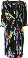 Moschino women print knot dress - women - Polyester/Viscose - 42