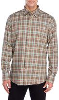 Alex Cannon Plaid Button-Down Long Sleeve Shirt