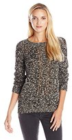 Sanctuary Women's Easy Marled Popover Sweater