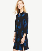 Ann Taylor Peacock Shift Dress