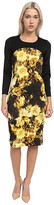 Just Cavalli Long Sleeve Floral Print Dress