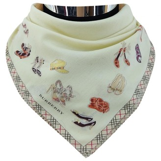 Burberry Ecru Cotton Scarves & pocket squares
