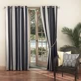 Sun Zero 48964 Dorie Indoor Outdoor Woven Stripe Grommet Single Window Curtain Panel
