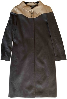 Valentino Anthracite Cashmere Coat for Women Vintage
