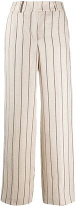 Peserico striped high-waisted trousers