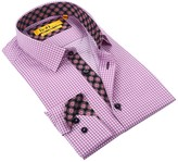 Brio Long Sleeve Tailor Fit Caning Dress Shirt