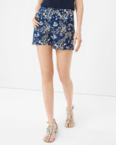 White House Black Market 5-inch Paisley Floral Print Shorts