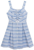 Rare Editions Girls 7-16 Striped Woven Dress