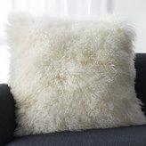 """Crate & Barrel Pelliccia Ivory 23"""" Pillow"""