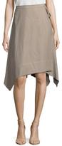 BCBGMAXAZRIA Tied Asymmetrical Skirt