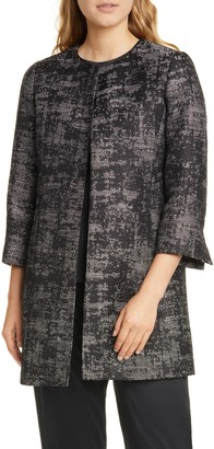 Eileen Fisher Collarless Open Front Coat