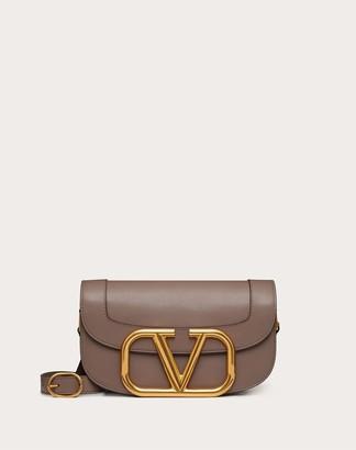 Valentino Supervee Calfskin Crossbody Bag Women Clay 100% Pelle Di Vitello - Bos Taurus OneSize