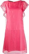 Alberta Ferretti broderie flared dress