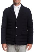 Mackage Drey Leather Trim Puff Blazer