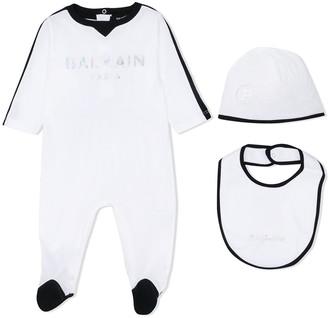 Balmain Kids Logo-Print Pajamas