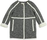 Chloé Cotton Jersey & Faux Shearling Coat
