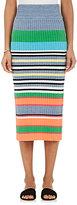 TOMORROWLAND Women's Striped Cotton-Blend Pencil Skirt