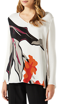 Jigsaw Northern Bloom Long Sleeve Blouse, Ivory