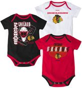 Reebok Baby Chicago Blackhawks 3-pc. Bodysuit Set