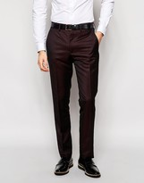 French Connection Burgundy Tonic Suit Trousers