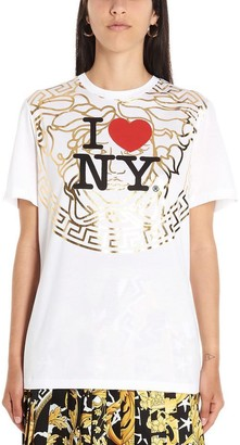 Versace I love New York Logo Print T-Shirt