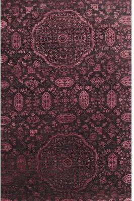 Bungalow Rose Kishan Floral Dark Purple Area Rug Rug Size: Rectangle 5' x 8'