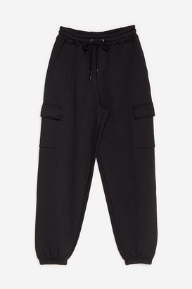 Nasty Gal Womens Just Cargo With It High-Waisted Joggers - Black - 4