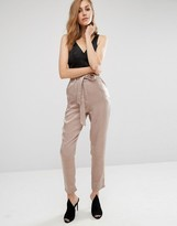 Missguided Hammered Satin Trouser