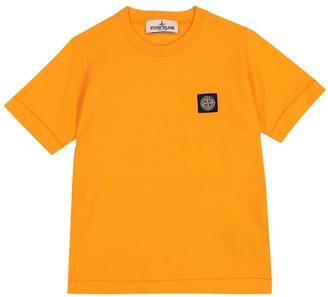 Stone Island Junior Logo cotton-jersey T-shirt