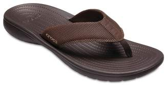 Crocs Bogota Leather Trim Flip Flop