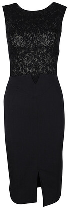 Antonio Berardi Black Lace Bodice Detail Sleeveless Fitted Dress S