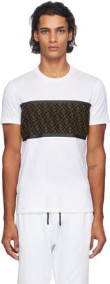 Fendi White Forever Mesh T-Shirt