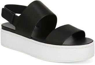 Vince Westport Colorblock Leather Flatform Slingback Sandals