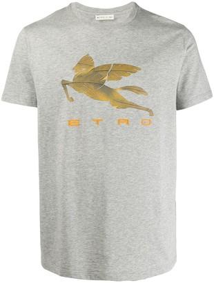 Etro Pegaso-print cotton T-shirt