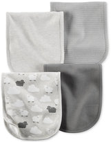 Carter's Baby Boys' or Baby Girls' 4-Pack Little Lamb Burp Cloths