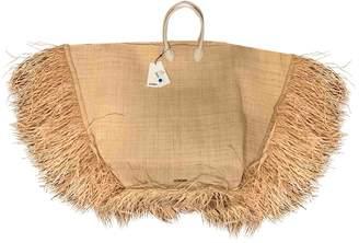 Jacquemus Le Grand Baci Beige Wicker Handbags