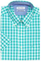 Nautica Wrinkle Resistant Classic Fit Gingham Short Sleeve Shirt