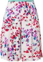 Emporio Armani floral print knee length shorts