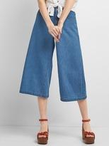 Gap High rise wide-leg denim culottes