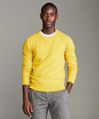 Todd Snyder Cashmere Crewneck Sweater in Citron