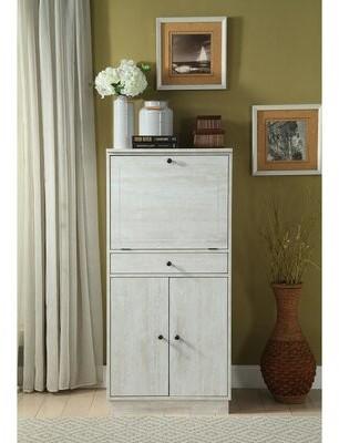 Gracie Oaks Katrine Bar Cabinet Color: Antique White