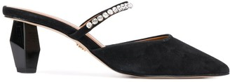 Kurt Geiger Studded Strap Pointed Toe Mules