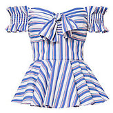 Caroline Constas Artemis Striped Off Shoulder Bustier Top