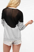 Truly Madly Deeply Mesh Inset Pullover Sweatshirt