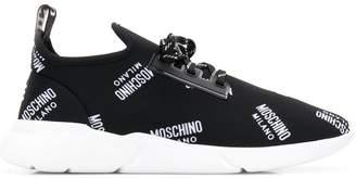 Moschino logo print sneakers
